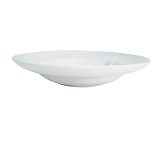 "CAC China RCN-130  12""  22 oz  Porcelain  Super White  Round  RCN Specialty Mediterranean Pasta Bowl"