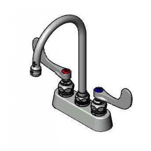 """T&S Brass B-1140-WH4 Workboard Mixing Faucet deck mount 3-1/2"""""""