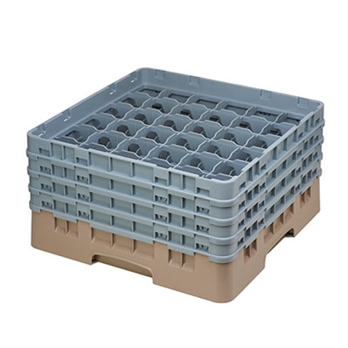 Cambro 36S800184 Camrack Glass Rack With (4) Soft Gray Extenders