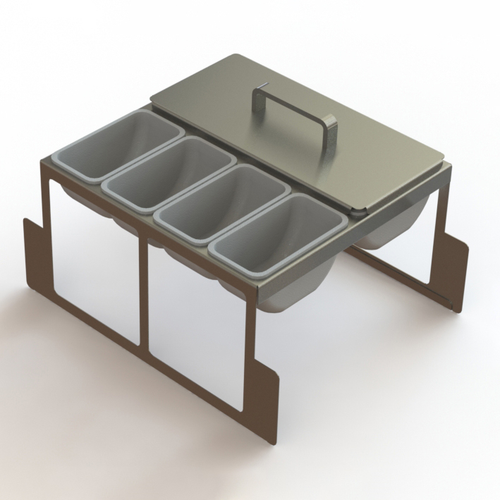 Glastender DICP-18B 8 Cup Condiment Drawer Insert