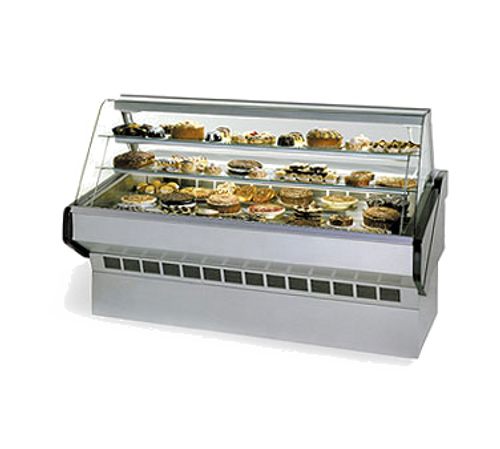 """Federal Industries SQ5B 60""""W Curved Glass Market Series Non-Refrigerated Bakery Case"""