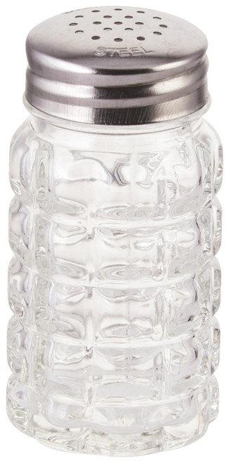 Winco G-118 Stainless Steel Flat Top Glass Shaker 2 Oz.