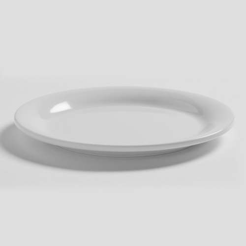 """American Metalcraft DPW6WH  6""""  Plastic  White  Round  Bread & Butter Plate"""
