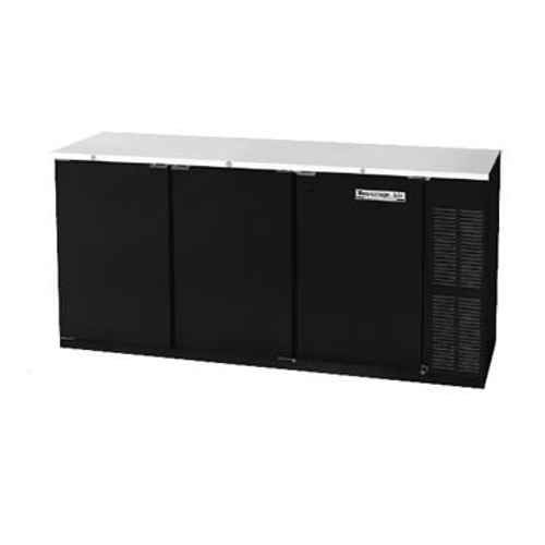"""Beverage Air BB72HC-1-F-PT-S 72""""W Three-Section Solid Door Refrigerated Open Food Rated Back Bar Pass-Thru Storage Cabinet"""