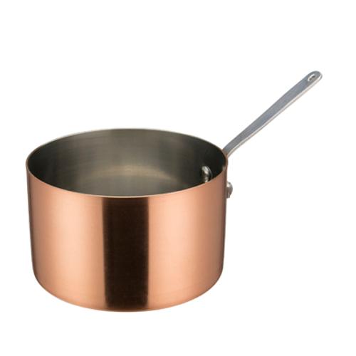 """Winco DCWA-206C  5""""  28 Oz.  Copper  Round  Mini Sauce Pan  12 Each"""