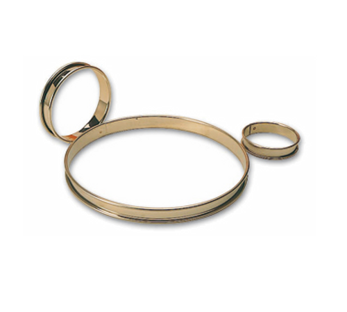 "Matfer Bourgeat 371701 2-3/8"" ID x 5/8""H Stainless Steel Round Tart Ring - 1 Pack"