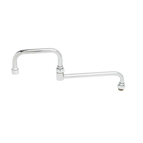"""T&S Brass 067X-A22 Nozzle swivel 15"""" long double joint 2.2 GPM aerator"""