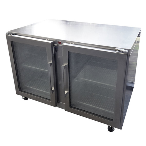 """Traulsen Uhg48Rr-0420 48"""" W Two-Section Glass Door Reach-In Dealer's Choice Compact Undercounter Refrigerator"""