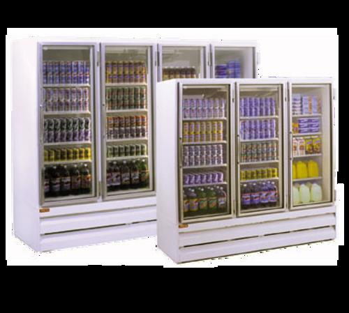 "Howard McCray GR65BM-B 78"" W Three-Section Glass Door Refrigerator Merchandiser"