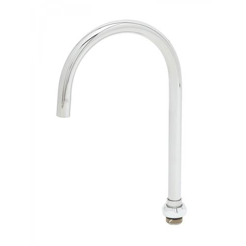 "T&S Brass 133XP-F05 Nozzle swivel 10-5/16""H 5-11/16"" spread gooseneck 0.5 GPM"