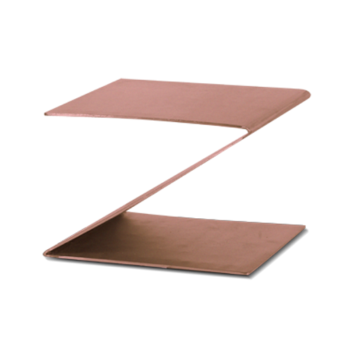 """Eastern Tabletop 1201CP 10""""W x 10""""D x 6""""H Copper Stainless Steel Design Riser"""