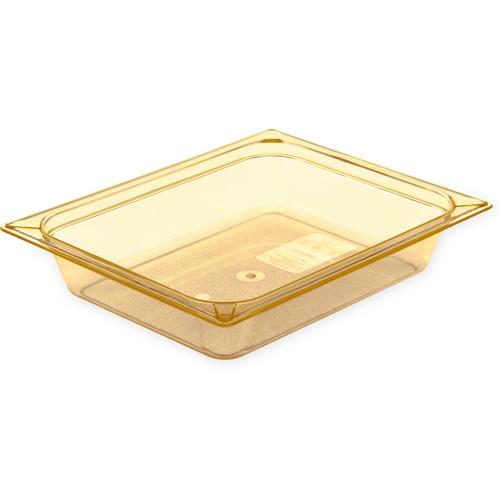 Carlisle 10436U13 Storplus High Heat Universal Lid For 1/2-Size Food Pan Amber