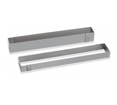 """Matfer Bourgeat 371016 22-1/2""""L x 3-3/4""""W x 1-3/4""""H Stainless Steel Rectangle Mousse Frame"""