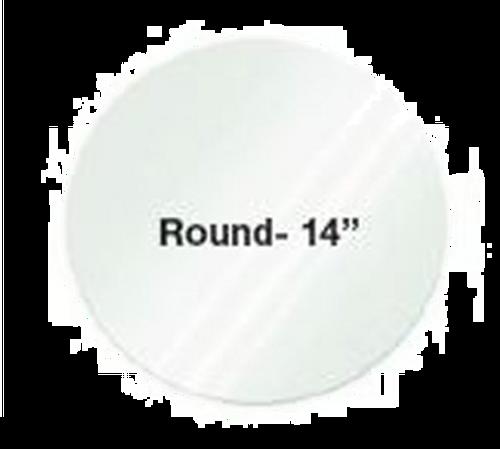 """Eastern Tabletop 0814AC 14"""" Round Clear Acrylic Riser Shelf"""