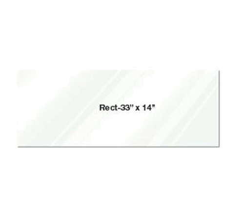 "Eastern Tabletop 0514AC 33""L x 14""W Rectangular Clear Acrylic Riser Shelf"