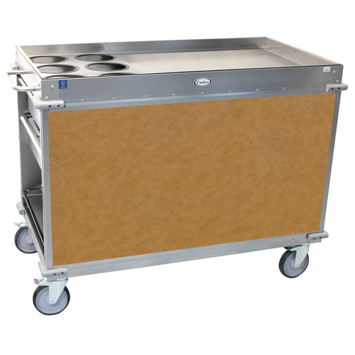 Cadco BC-3-L1 Mobile,Serv Beverage Cart Large (6) airpot wells