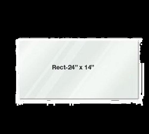 """Eastern Tabletop 052414AC 24""""L x 14""""W Rectangular Clear Acrylic Riser Shelf"""