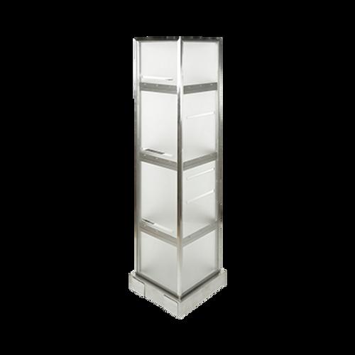 "Eastern Tabletop 1272AC 72""H Stainless Steel Tower Mobile Display"