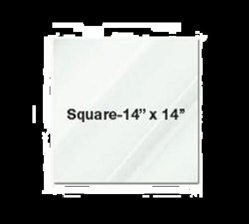 "Eastern Tabletop 0414G 14""L x 14""W Square Clear Glass Riser Shelf"