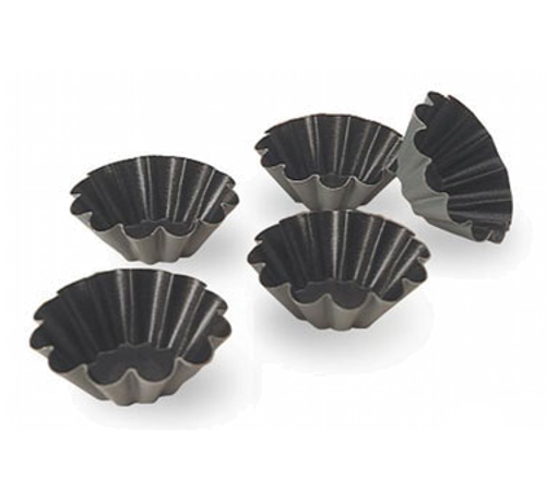 "Matfer Bourgeat 334027 4"" x 1.38"" Aluminum Exal Brioche Mold"