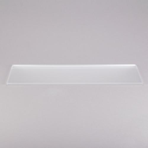 "Eastern Tabletop 05249G 24""L x 9""W 3/8"" Rectangular Clear Glass Riser Shelf"