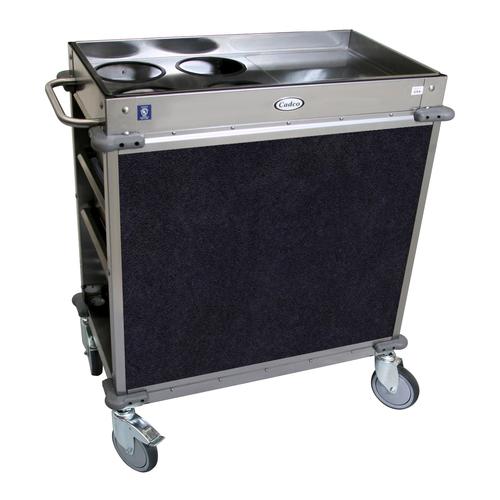 Cadco BC-2-L4 Mobile,Serv Beverage Cart Standard (4) airpot wells