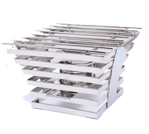 """Eastern Tabletop 1710 10""""W x 10""""D x 6-1/2""""H Stainless Steel Escalate Riser"""