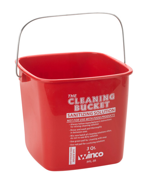 Winco PPL-3R Cleaning Bucket 3 qt
