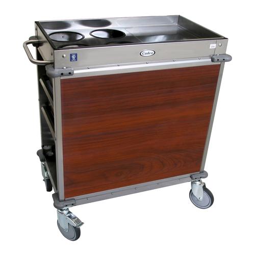 Cadco BC-2-L5 Mobile,Serv Beverage Cart Standard (4) airpot wells