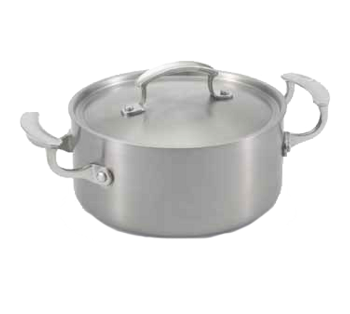 "Vollrath 49410 7-7/8"" Dia. Stainless Steel / Aluminum Miramar™ Display Cookware Casserole"