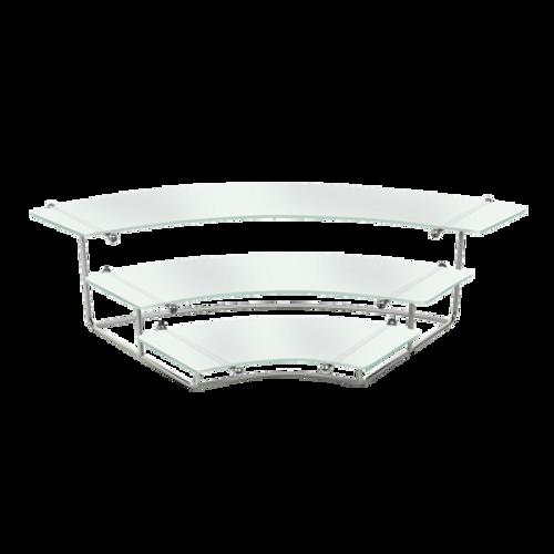 "Eastern Tabletop 1250AC 29""W x 20""D x 27""H Stainless Steel Bleachers Display Riser"