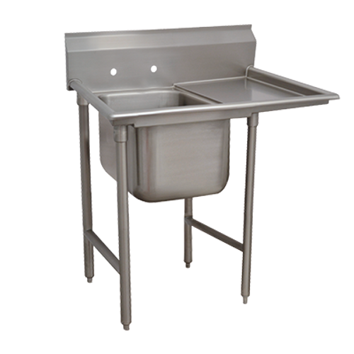 Advance Tabco T9-1-24-18R-X 18-Gauge Regaline One Compartment Stainless Steel Regaline Sink With Right-Hand Drainboard