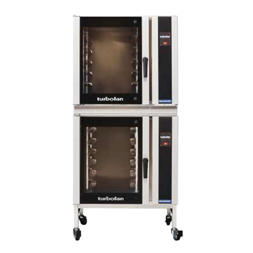 Moffat E35T6-26 Doublestack Turbofan Electric Convection Oven (2 each E35T6-26 + 1 each DSKE35-26)