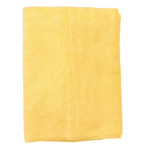 """Continental Commercial E830016 16"""" x 16"""" Yellow Polyester / Polyamide Supremo General Purpose Cloth"""