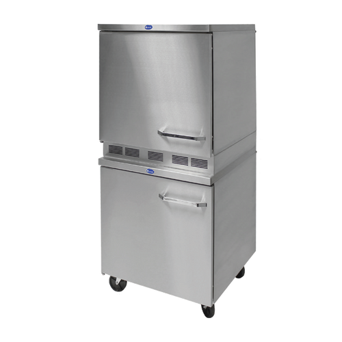 """Randell 9404-27DT-RTFBL 27"""" W One-Section Stainless Steel Door Reach-In Dual Temp Refrigerator/Freezer"""