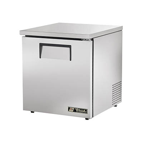 """True TUC-27-LP-HC 27.63""""W One-Section Stainless Steel Door Low Profile Undercounter Refrigerator"""