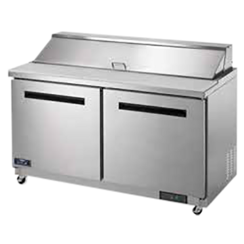"""Arctic Air AST60R 61.25"""" W Two-Section Three Door Sandwich/Salad Prep Table"""