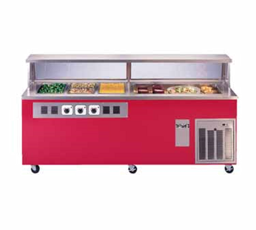 """Piper Products R3H-2CM Hot & Cold Reflections Serving Counter 74"""" x 30"""" x 36"""" Refrigirated Cold Pan"""
