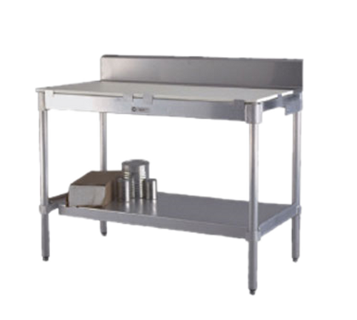 """New Age 24US84KD Work Table 84""""W x 24""""D with Poly Top"""