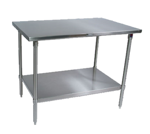 """John Boos ST6-3048SSK 48""""W x 30""""D Stainless Steel Work Table"""