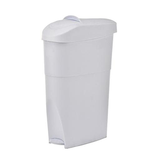 "Alpine ALP451-19-WHI 19 qt. 7-1/10""L X 13""W x 23""H White Step-On Sanitary Napkin Receptacle"