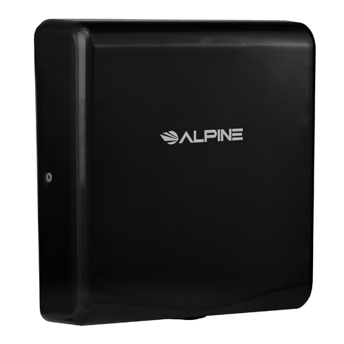Alpine ALP405-10-BLA Black Willow Hand Dryer with HEPA Filter - 110-120V 300-1400W