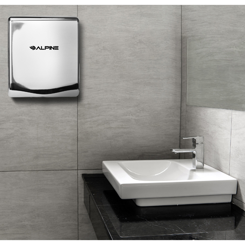 Alpine ALP405-10-CHR Chrome Willow Hand Dryer with HEPA filter - 110-120V 1400W