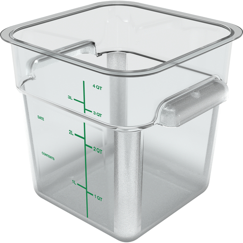 Carlisle 1195107 4 Qt. Clear Squares Food Storage Container