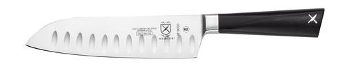 "Mercer M19050 7"" Santoku Knife with Granton Edge and POM Handle"