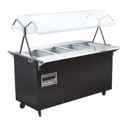 """Vollrath 38710 60"""" W x 28 5/8"""" D x 57 5/16"""" H Enclosed Base 4 Well 2-Series Affordable Portable Hot Food Station"""