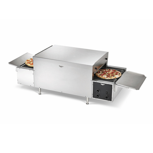 """Vollrath PO4-20818L-R 68"""" Electric Countertop Conveyor Pizza Oven with 18"""" Wide Belt - 6200W, 208V"""
