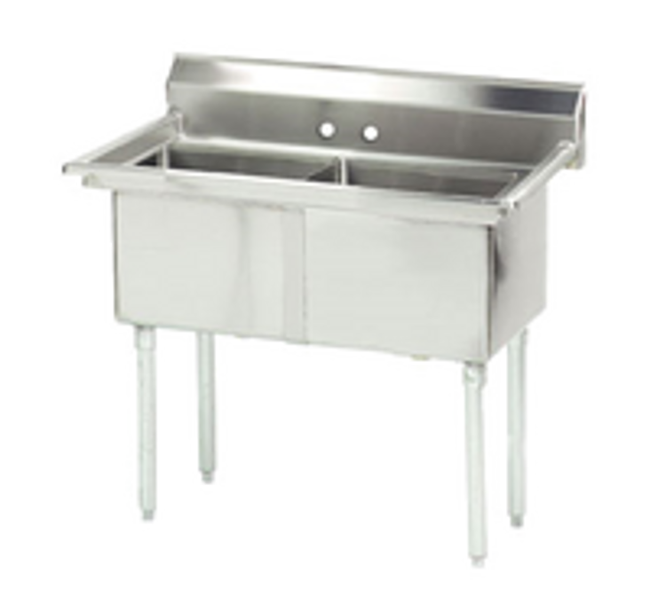 Advance Tabco 2 Compartment Sink