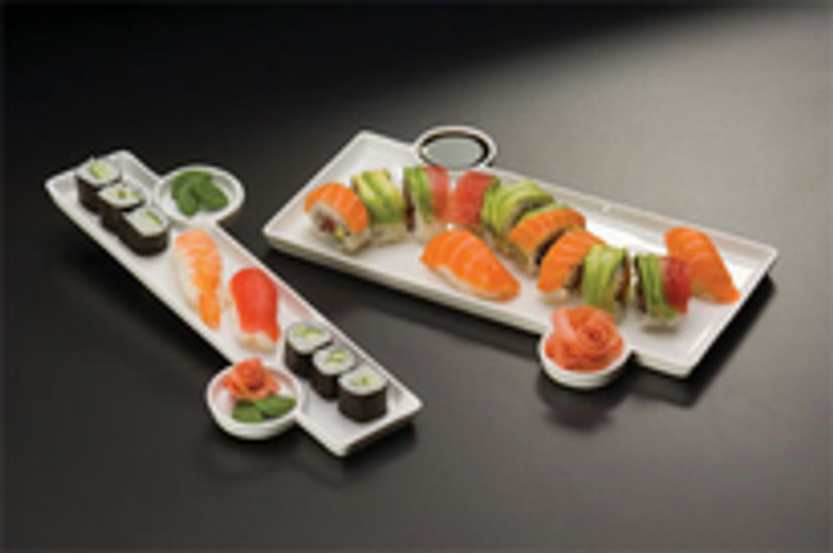 American Metalcraft China Platters and Tray