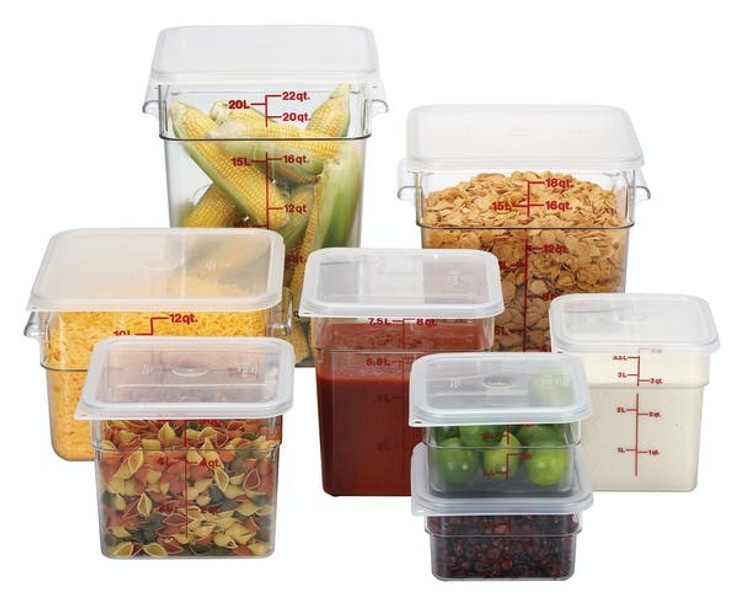 Cambro Food Storage Container and Lids